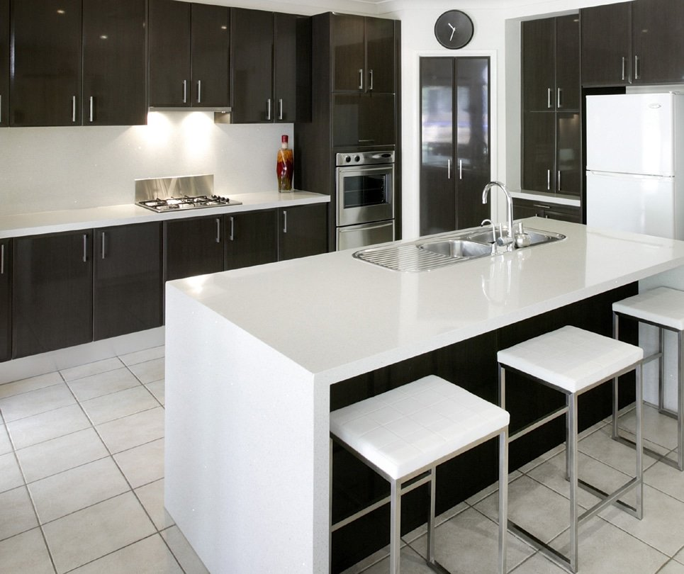 Granite Transformations Black and White Kitchen Renovation