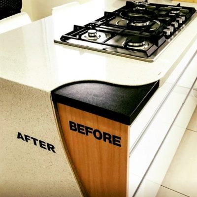 Before and After Benchtop Resurface Granite Transformations