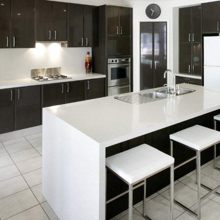 Granite Transformations Black and White Kitchen Renovation